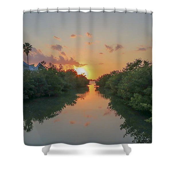 Sunset On Sarasota Bay Shower Curtain