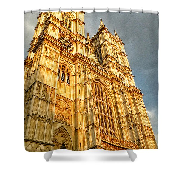 Sunset On The Abbey  Shower Curtain