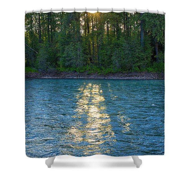 Sunset On The Bulkley Shower Curtain
