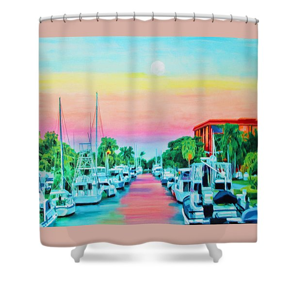 Sunset On The Canal Shower Curtain