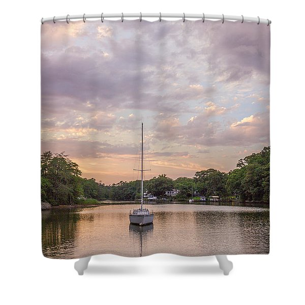 Sunset On The Magothy River Shower Curtain
