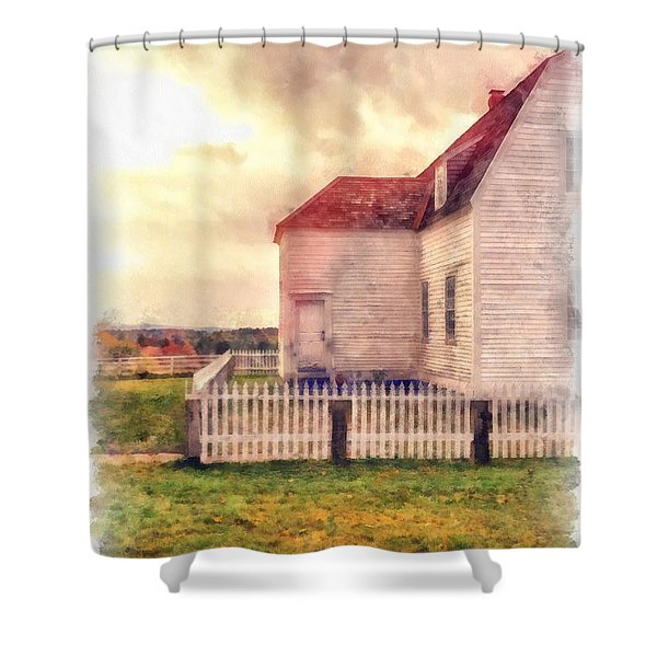Sunset On The Old Farm House Shower Curtain