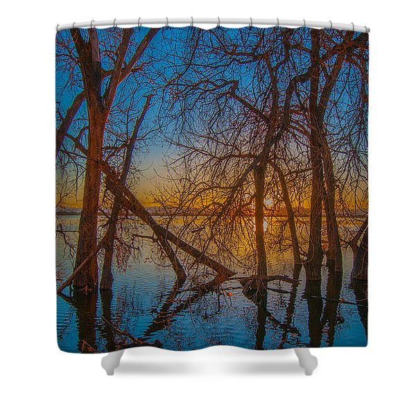 Sunset Over Barr Lake_2 Shower Curtain