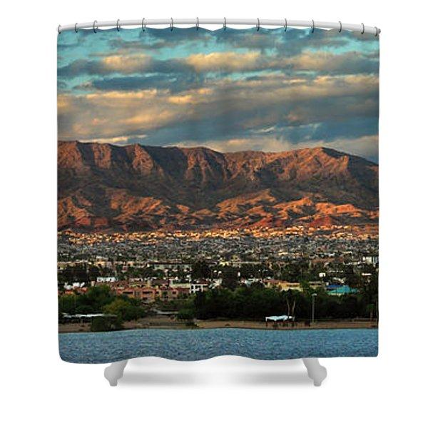 Sunset Over Havasu Shower Curtain