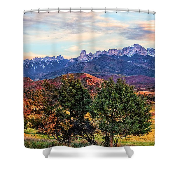 Sunset Over Owl Creek Pass Shower Curtain