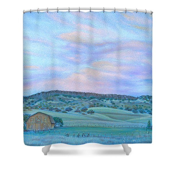 Sunset Over Table Mountain Shower Curtain