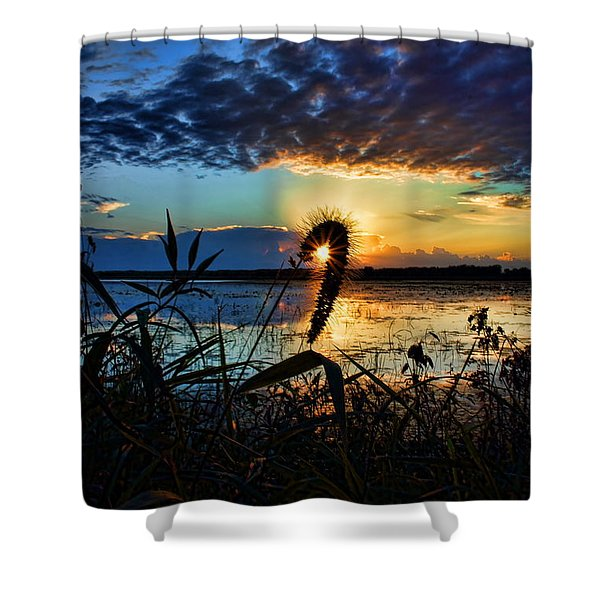 Sunset Over The Refuge Shower Curtain