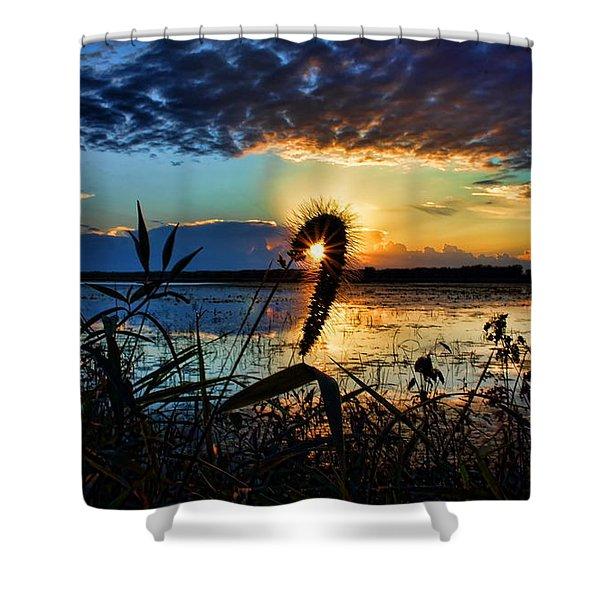 Sunset Over The Refuge Shower Curtain