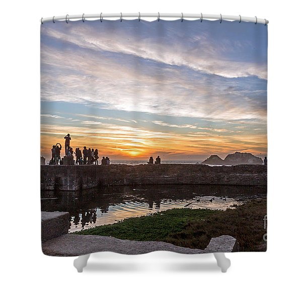 Sunset Party Shower Curtain