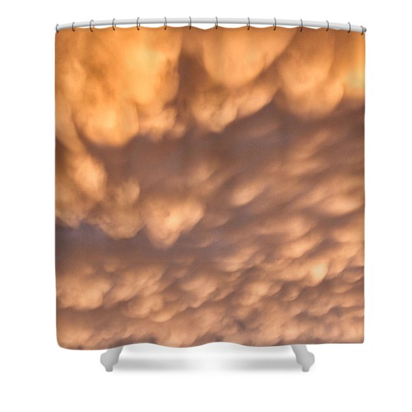 Shower Curtain featuring the photograph Sunset Pillows by William Selander