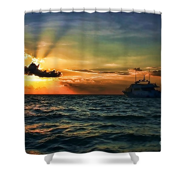 Sunset Regatta  Shower Curtain