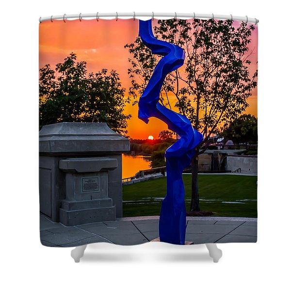Sunset Sculpture Shower Curtain