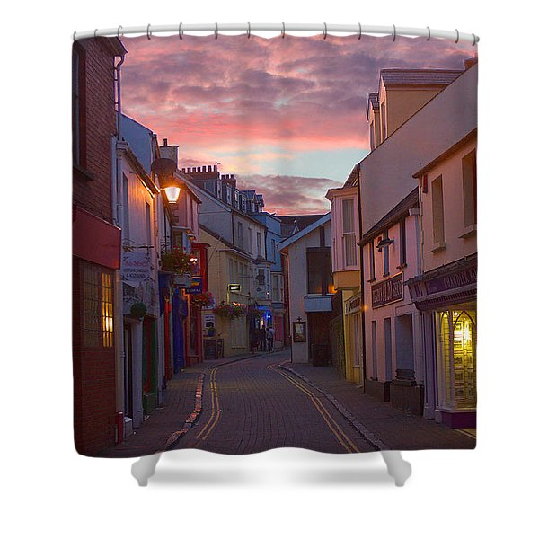 Shower Curtain featuring the photograph Sunset Street by Jeremy Hayden