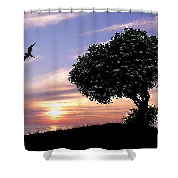 Sunset Tree Of Tranquility Shower Curtain