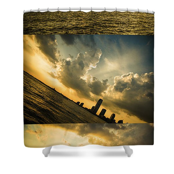 Sunset Trilogy Shower Curtain