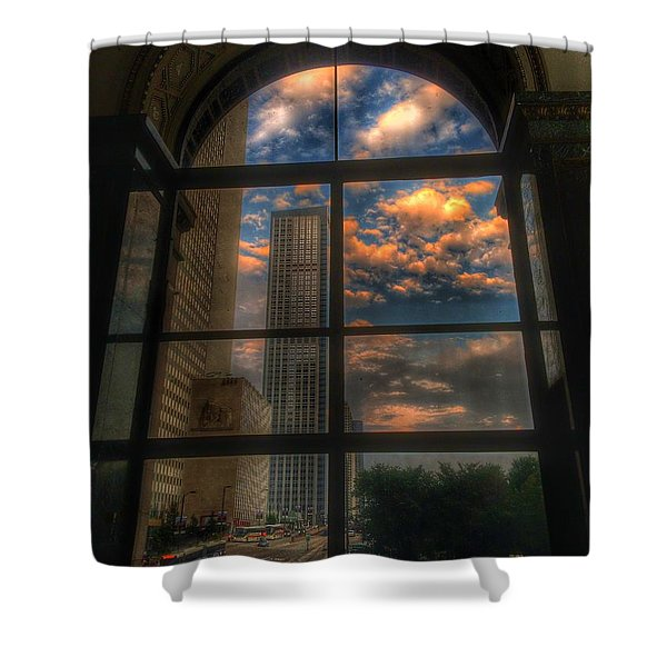 Sunset View Of Chicago Shower Curtain