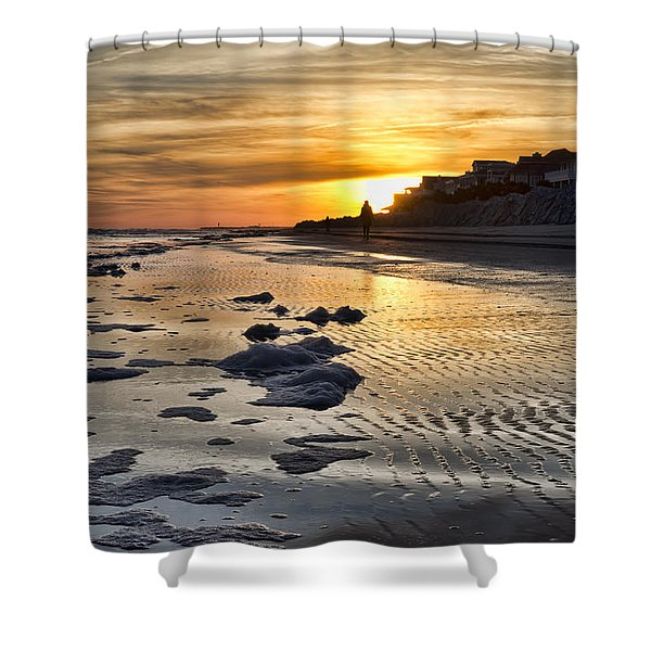 Sunset Wild Dunes Beach South Carolina Shower Curtain