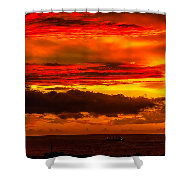 Sunset Wow2 Shower Curtain