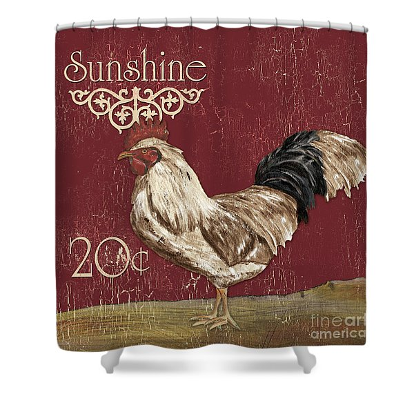 Sunshine Rooster Shower Curtain