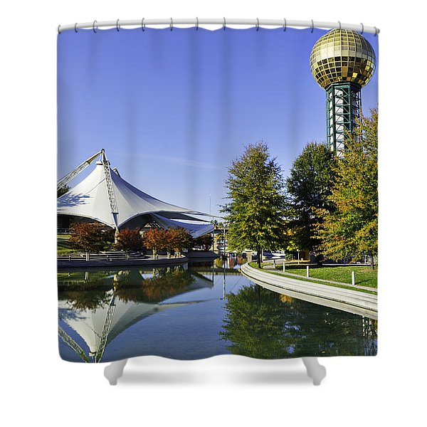 Sunsphere In The Fall Shower Curtain