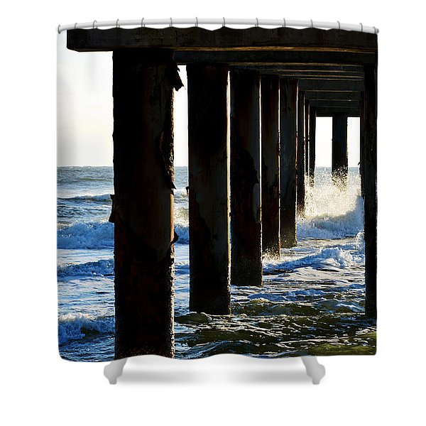 Sunwash At St. Johns Pier Shower Curtain