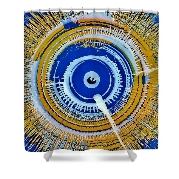 Super Nova Color Shower Curtain