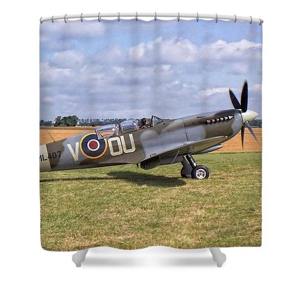 Supermarine Spitfire T9 Shower Curtain