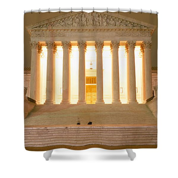 Supreme Court Building Illuminated Shower Curtain