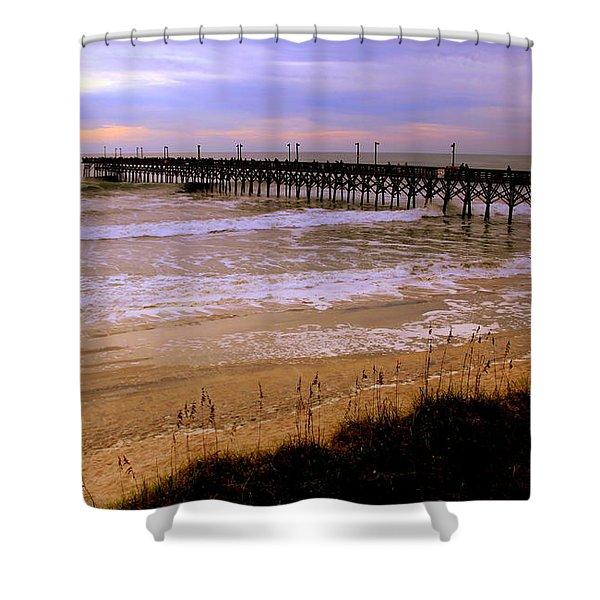 Surf City Pier Shower Curtain