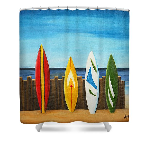 Surf On Shower Curtain