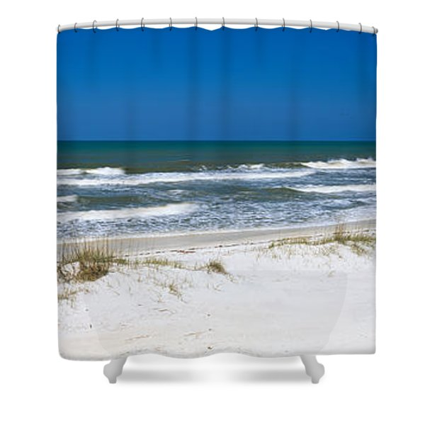 Surf On The Beach, St. Joseph Peninsula Shower Curtain