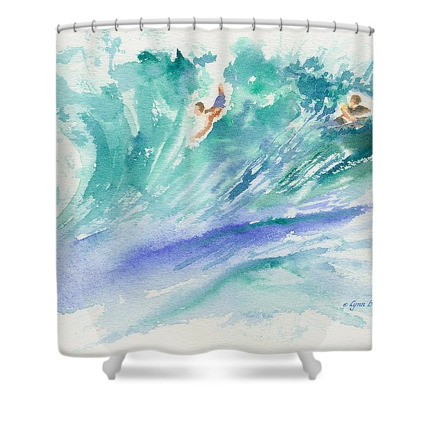 Shower Curtain featuring the painting Surf's Up by Lynn Buettner