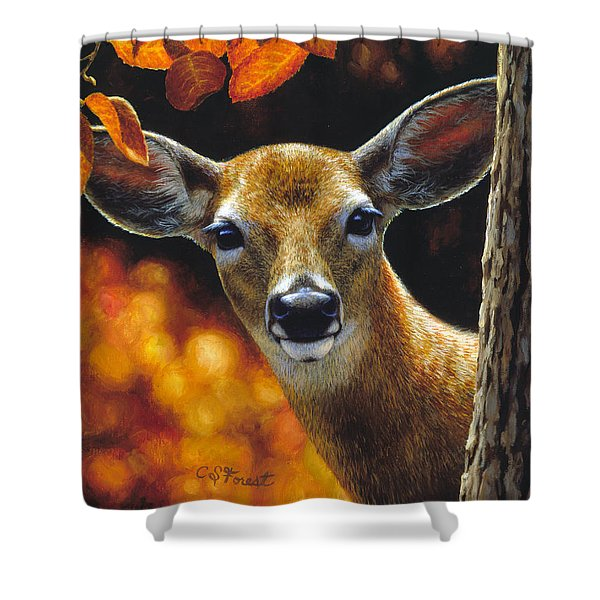 Whitetail Deer - Surprise Shower Curtain