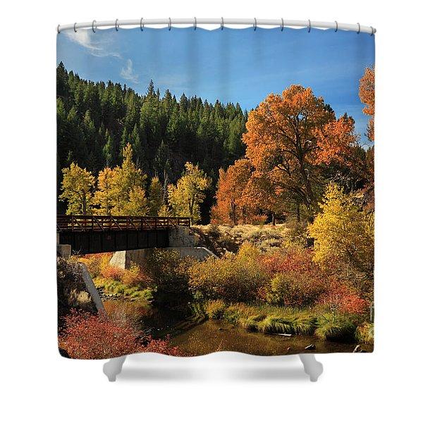 Susan River Bridge On The Bizz 2 Shower Curtain