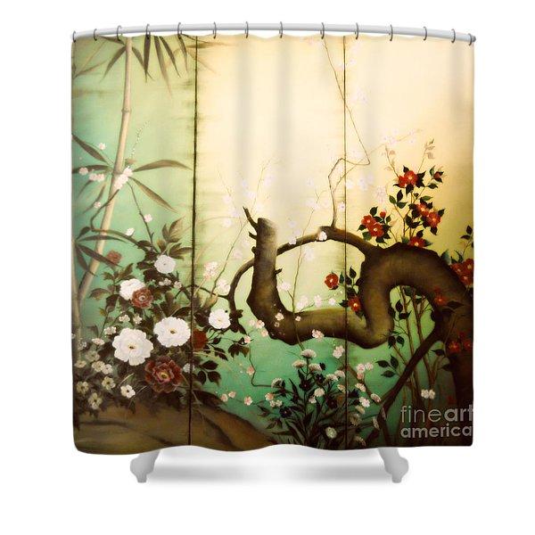 Sunshine In The Garden Shower Curtain