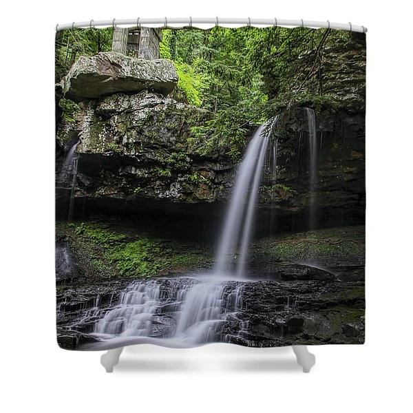 Suttons Gulch Waterfall Shower Curtain