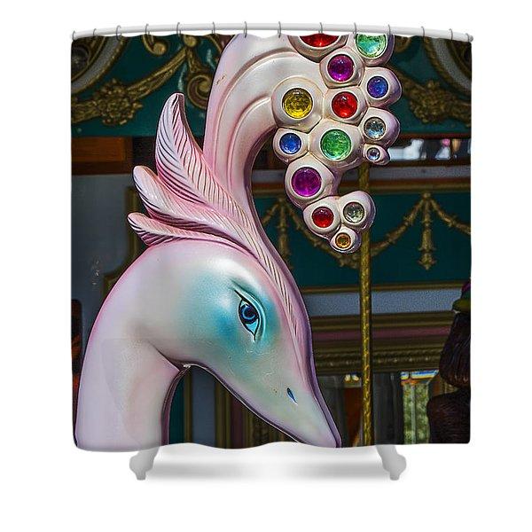 Swan Carrsoul Ride Shower Curtain