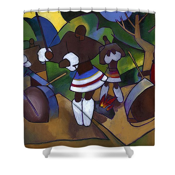 Swazi Rhythm Shower Curtain