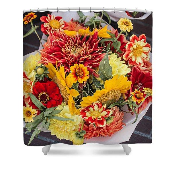 Sweet Bouquet Shower Curtain