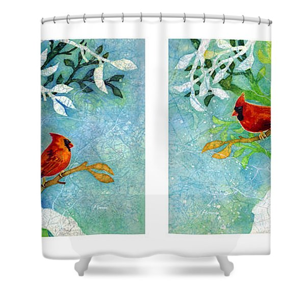 Sweet Memories Diptych Shower Curtain