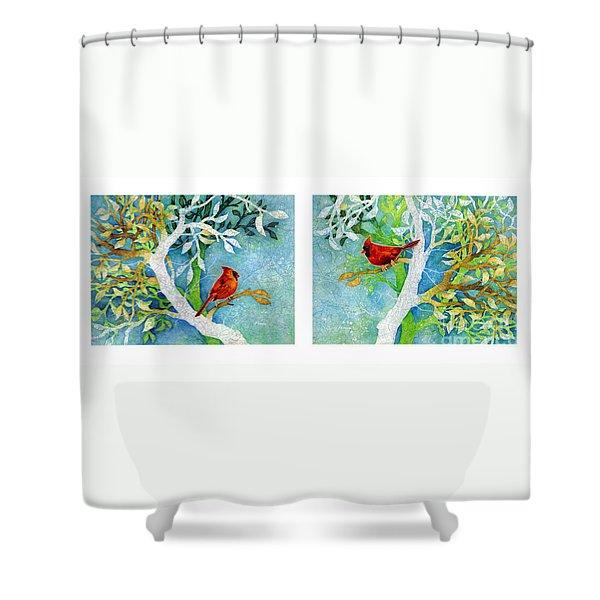 Sweet Memories Diptych Shower Curtain