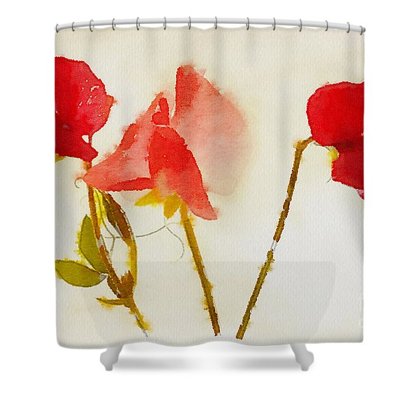 Sweet Pea Watercolour Shower Curtain