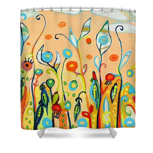 Sweet Peas And Poppies Shower Curtain