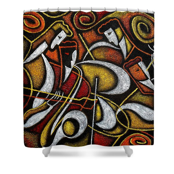 Sweet Sounds Of Jazz Shower Curtain