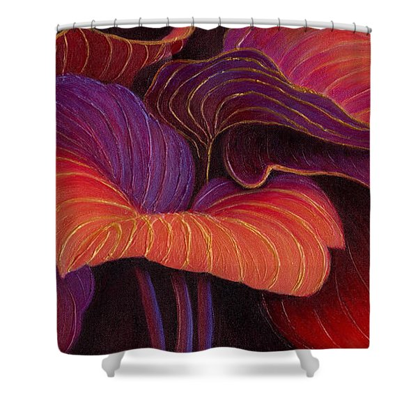 Shower Curtain featuring the painting Sweet Tarts by Sandi Whetzel