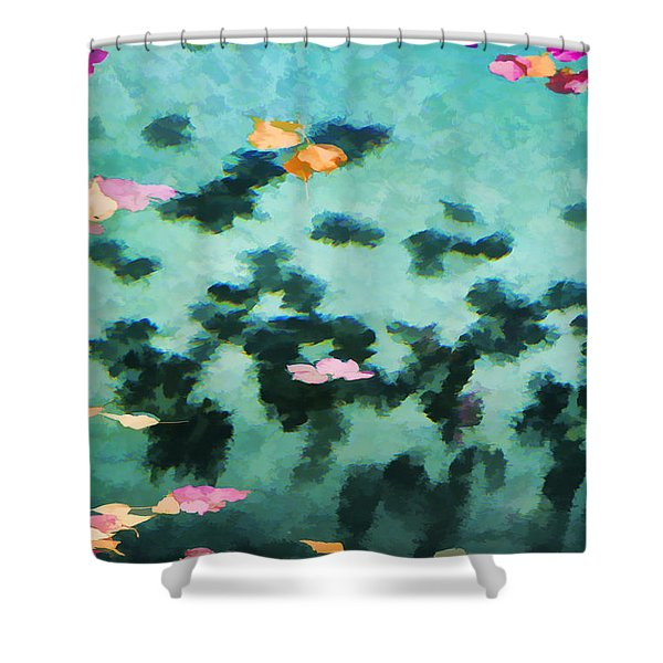 Swirling Leaves And Petals 2 Shower Curtain