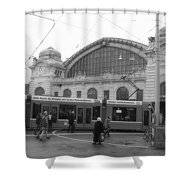 Swiss Railway Station Shower Curtain