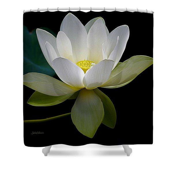 Symbolic White Lotus Shower Curtain