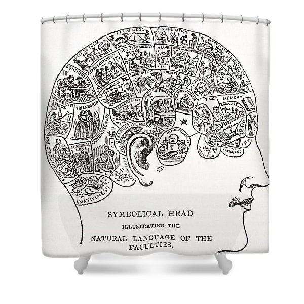 Symbolical Head Showing The Natural Shower Curtain