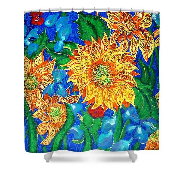 Symphony Of Sunflowers Shower Curtain